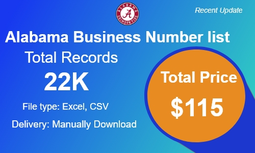 Alabama Small Business Phone Number list in usa