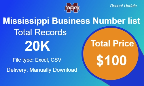 Mississippi Small Business Phone Number list in usa