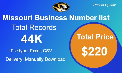 Missouri Small Business Phone Number list in usa